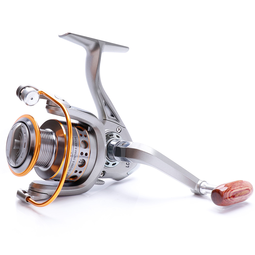 TREHOOK Super Strong 5.21 Baitcasting Reel Metal Spinning Reel Winter Fishing Accessories Sea Fishing Reels With Wooden Knob 22