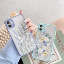QIXTWO For iPhone 11 Pro Max SE 2 2020 Fashion Lavender Flow