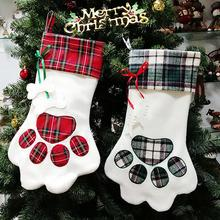 Christmas Gift Bag Paw Design Candy Bags Tree Decoration Hanging ho