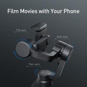 Image 3 - Baseus 3軸ハンドヘルドジンbluetooth selfieスティックカメラビデオスタビライザーiphoneアクションカメラ