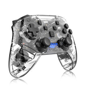 Transparent Shake For N-Switch Pro NS-Switch Lite Gamepad Wireless Bluetooth Gamepad Game Joysticks Controller With 6Axis Handle