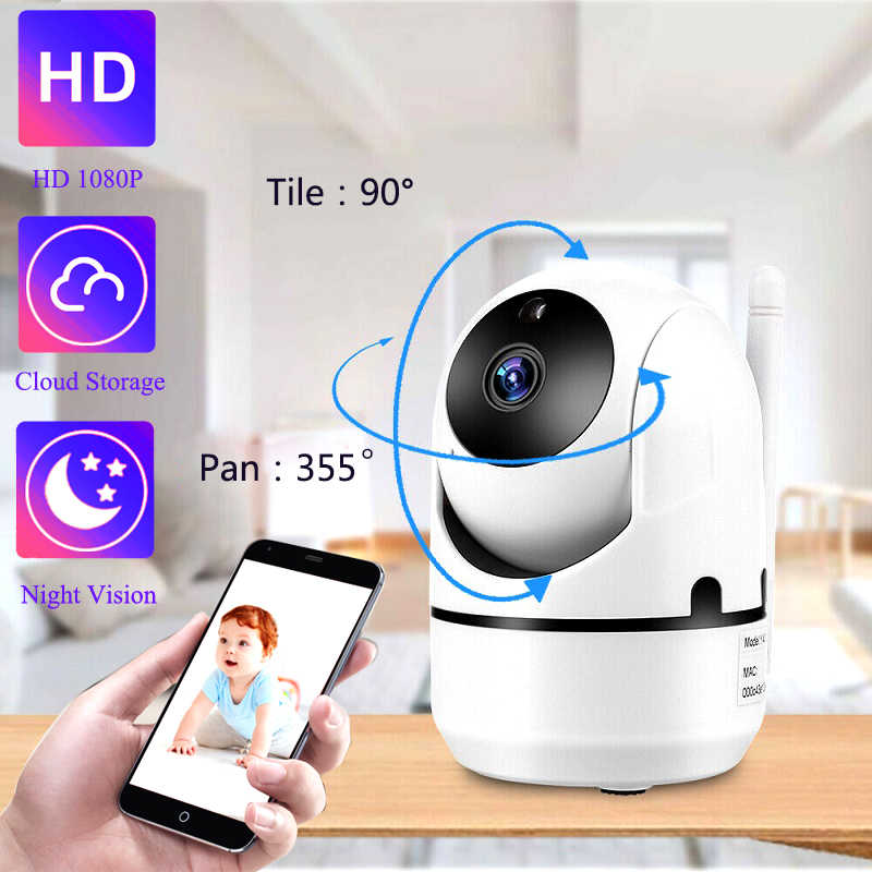 QZT IP Camera WiFi Home Securityกล้องIP 360 Night Visionจอภาพเด็กในร่มMini CCTV Wireless Wifi Homeกล้อง