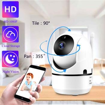 QZT kamera IP WiFi bezpieczeństwo w domu kamery IP 360 noktowizor niania elektroniczna Baby Monitor kryty Mini kamery monitoringu CCTV bezprzewodowy Wifi kamera