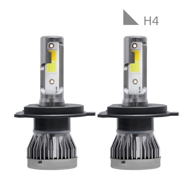2 pièces H4 9003 HB2 phare LED Kit de Conversion COB Hi/Lo faisceau ampoules 90W 12000LM haute puissance 6000K blanc/3000K jaune lumière 5000h