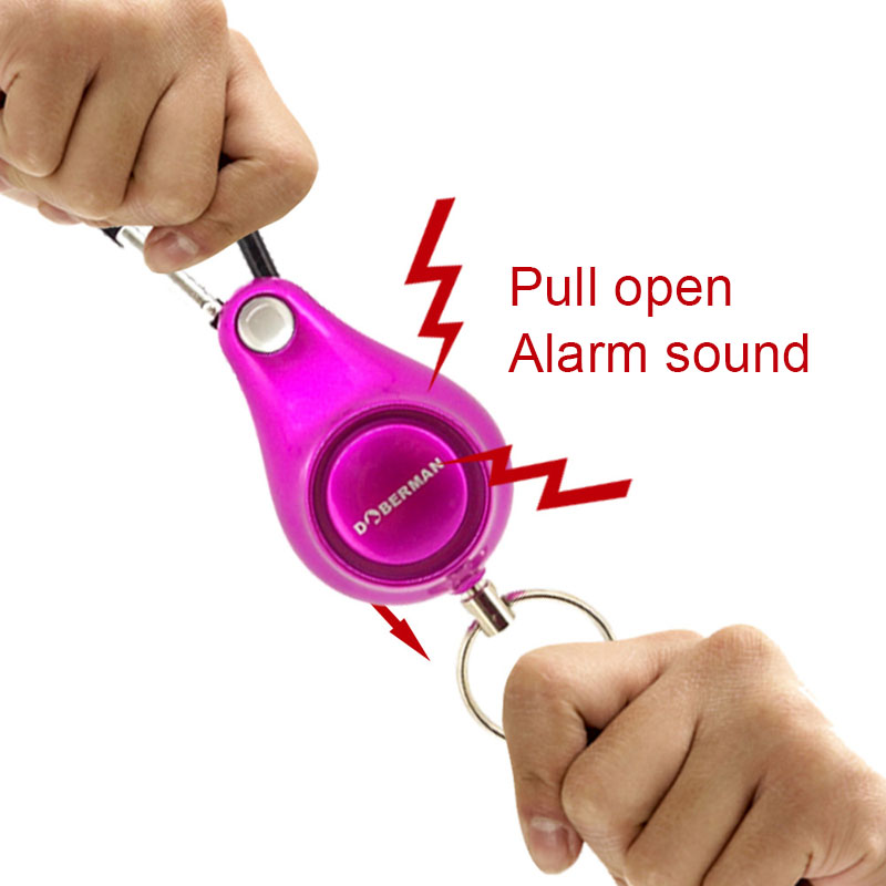 Personal Alarm Women Security Keyring Emergency Self Defense For Outdoor Survival Camping Backpack GV99