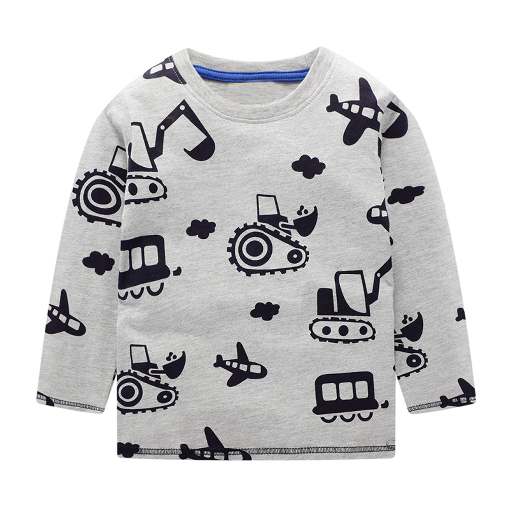 Baby Boys T shirts for Kids Clothing Autumn Winter Children T shirt for Boy Clothes Animal Pattern Toddler Tops Tee Shirt Fille 5