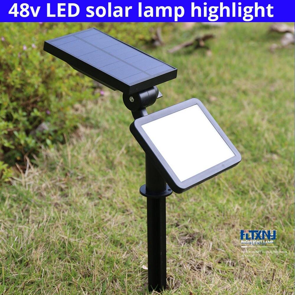 nova chegada 48 led luz de energia solar a prova dwaterproof agua 5 modo montagem na