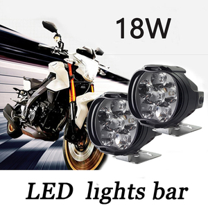 Image 2 - 2x Motorcycles Headlight 6500k White 6 LED Working Spot Light Motorbike Bicycles Scooters Spotlights Modified Auxiliary Fog Lamp