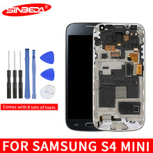 "4.3""Super AMOLED LCD For Samsung Galaxy S4 Mini I9190 i9192 i9195 LCD Touch Screen Digitizer with Frame Samsung S4 Mini Display(China)"