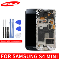 4.3Super AMOLED LCD For Samsung Galaxy S4 Mini I9190 i9192 i9195 LCD Touch Screen Digitizer with Frame Samsung S4 Mini Display