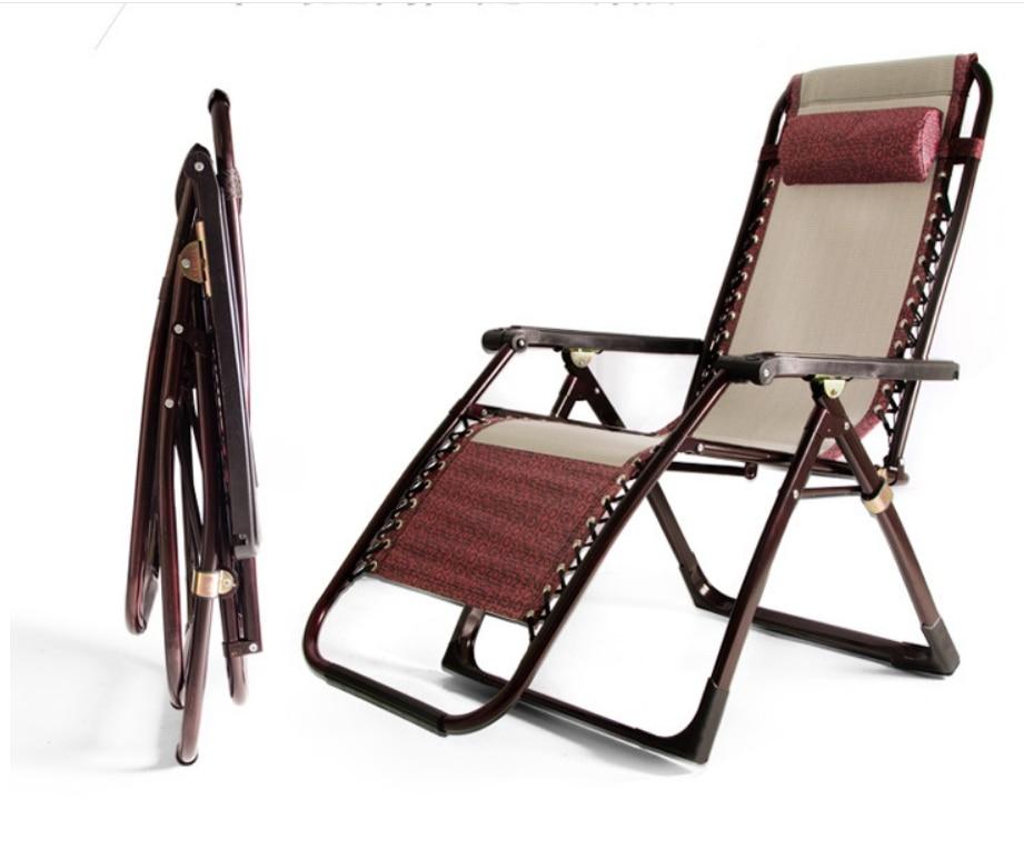 {Free Shipping} 200pcs  Lounge Chair Luxury Folding Chair Teslin Leisure Beach Chair Chair Lunch Break Chair