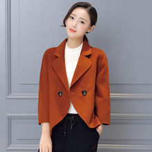 2019 New Plus Size Womens Business Suits Spring Autumn Winter wool women Blazers Jackets Slim Casual Thin Blazer Women Coat 0160(China)