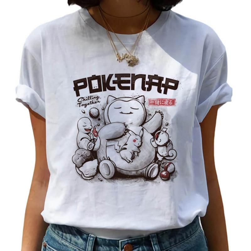 New Harajuku Kawaii T Shirt Women Ullzang Funny Cartoon T-shirt 90s Cute Tshirt Korean Style Top Tees Female 1