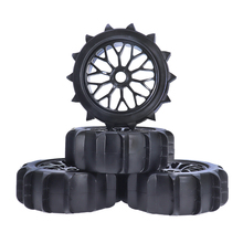 4PCS 1/8 RC Off Road Buggy Snow Sand Paddle Tires/Tyre and Wheels for 1/8 RC Car 4pcs 3 2 rubber rc 1 8 wheels