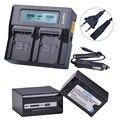 2 шт 7800mAH VW-VBD78 VBD78 AG-VBR89 батарея + LCD быстрое зарядное устройство для Panasonic AJ-HPX260MC  HPX265MC  PX270  PX285MC  AG-FC100  HC-X1000