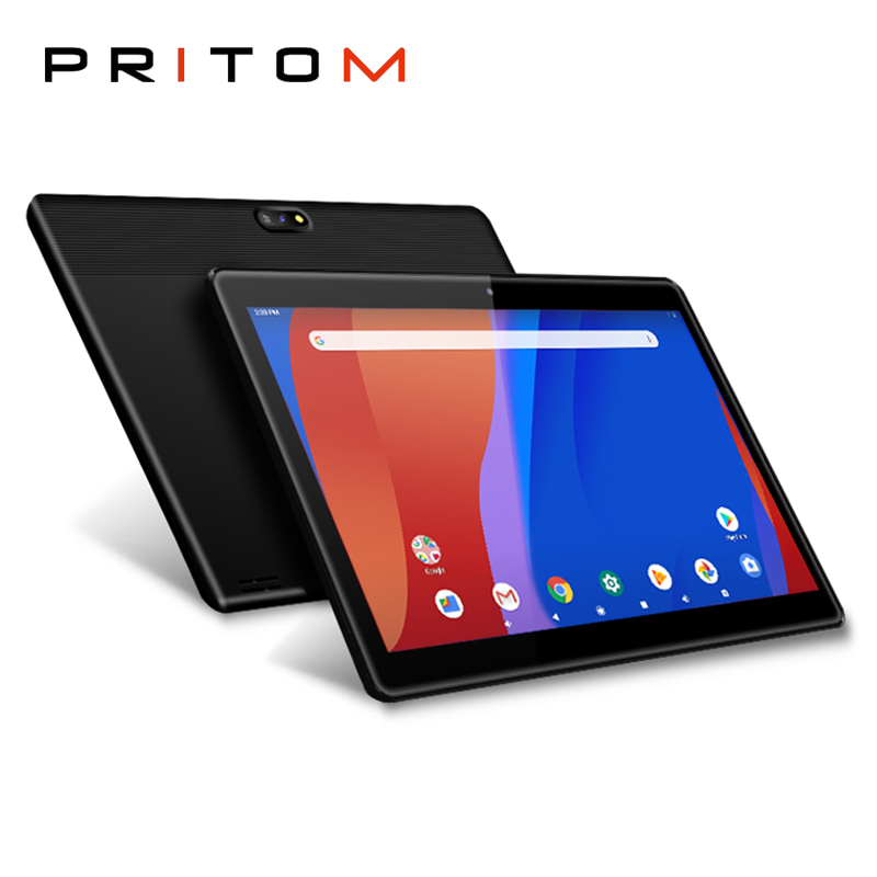 PRITOM M10 10.1 Inch Tablet Android 9.0 2GB 32GB ROM Android Tablet Quad Core WiFi HD IPS Screen 2.0MP+8.0MP Camera Tablets PC