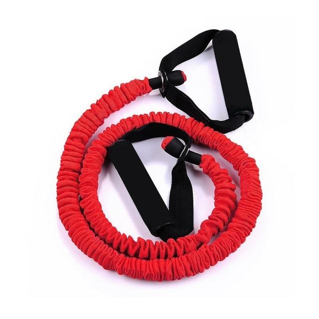 1Pc 120cm résistance bande élastique Tube Yoga tirer corde Fitness corde bandes de caoutchouc maison Fitness musculation corde équipement