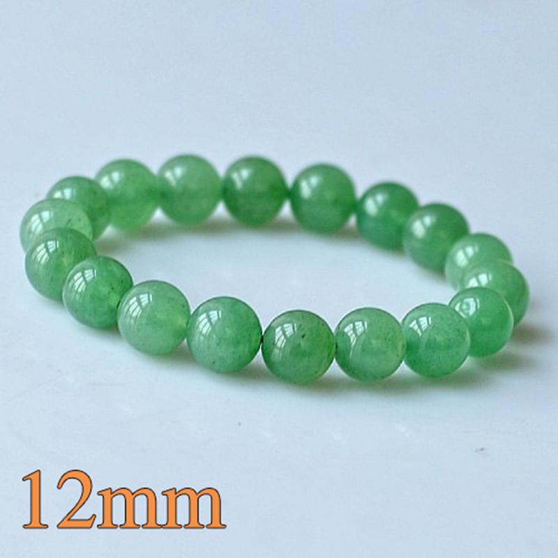 MOROW 100% Natural Green Aventurine Round Bead Stone Bracelet Jewelry Simple Women`s Men Bracelets Fashion Classic Accessory New (6)