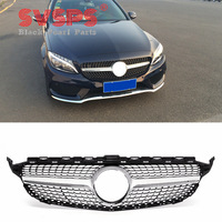 tuning Front Diamond Grille For Mercedes Benz C class W205 2015 2018 year