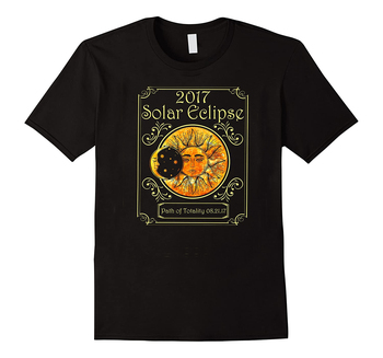 2017 Solar Eclipse Path of Totality Art Moon and Sun T-Shirt Cotton O-Neck Short Sleeve Mens T Shirt New Size S-3XL
