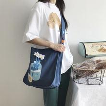 Женская сумка через плечо в стиле преппи шерстяные холщовые