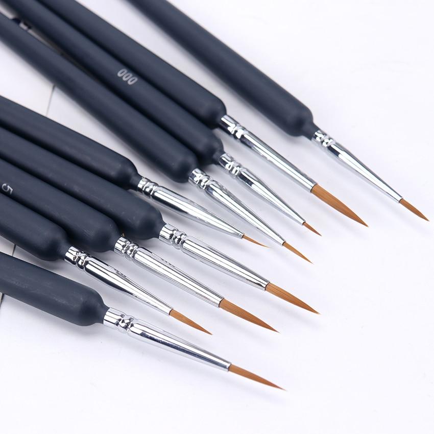 9 unids/set pinceles pintura artista Lobo pelo de cola de la línea de conexión plumas pelo cepillo pluma pincel de pintura acuarela pintura al óleo para principiantes artistas