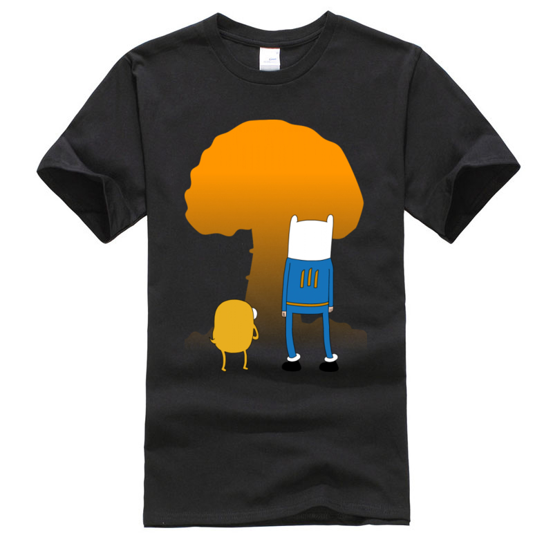 <font><b>Wilderness</b></font> Fallout Adventure Time New Mens Tshirt Jake And Finn Back to The Future Anime Cartoon <font><b>T</b></font> <font><b>Shirt</b></font> Boy Top Quality image