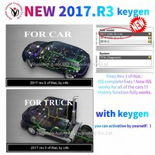 Mais novo 2017. r3 suporte iss funções com keygen em software dvd para delphis ds150e cdp vd tcs cdp pro wow cdp para o caminhão do carro