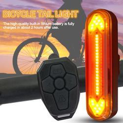 USB do ładowania rowerów Taillight jazdy włącz sygnał świetlny LED bezprzewodowy pilot zdalnego sterowania rower górski bezpieczeństwa lampka ostrzegawcza