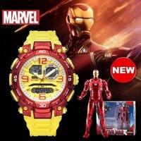 Disney Marvel Original Iron Man Multi Function Digital Sports Wrist Watch 100M Waterproof Boy Male Clock Religion M 9103 New