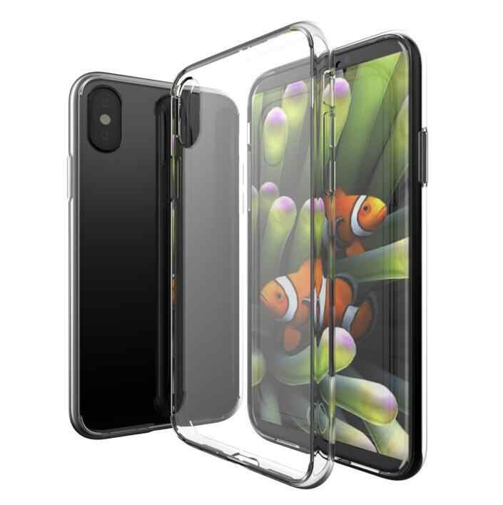 Transparent Ultra Slim TPU Full Protective Cover Non-slip Shockproof Cell Phone Case for iPhone X