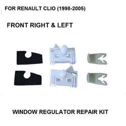 CLIP de reparación del regulador de ventana para RENAULT CLIO (1998-2005) Clips de plástico delantero derecho e izquierdo