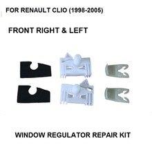 FÜR RENAULT CLIO (1998-2005) FENSTERHEBER REPARATUR CLIP VORNE RECHTS & LINKS Kunststoff Clips