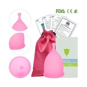 Image 5 - Nowy styl Sport menstruacyjny kubek 100% klasy medycznej silikonowe higieny kobiecej miesiączkowego puchar wielokrotnego użytku Lady cup Copa menstruacyjny