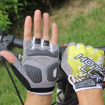 цена на New Non-slip Bicycle Gloves Half Finger Short Stylish Cycling Gloves Breathable Outdoor Sports Men Women Bike Gloves mtb Gloves
