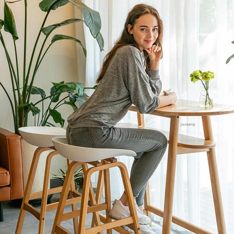 Минималистичный Скандинавский дизайн цельного дерева Pp пластиковый барный стул Северный ветер модный креативный датский барный стул популярная мебель