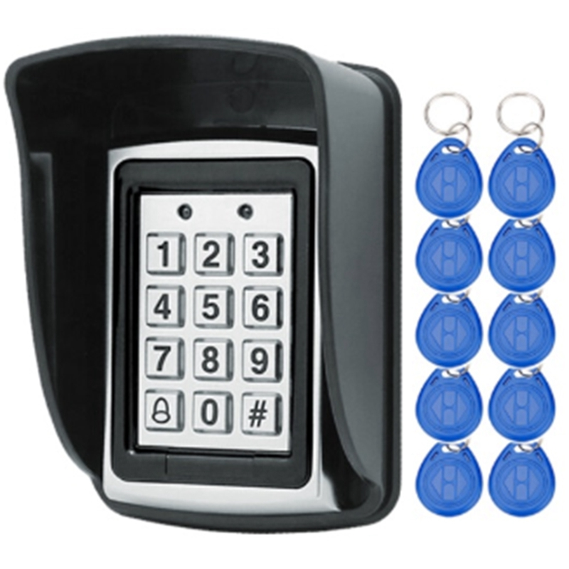 AMS-Waterproof Metal RFID Access Control Keypad Password Card Reader Keypad Key Fobs Password Access Lock Door Access Control Sy