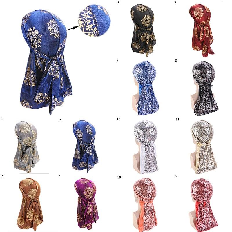 Women Flower Muslim Caps Hijab Bandana Hair Loss Turban Chemo Hats Long Hair Band Head Wraps Style Indian Islamic Fashion