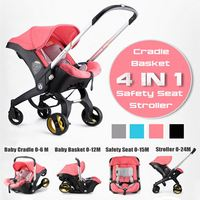 4 IN 1 Car Seat Stroller Baby Carriage Basket Portable Travel System Stroller with Safety Seat for 0 3 Years baby