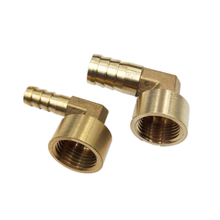 цена на Brass Hose Pipe Fitting Elbow 8mm 10mm 12mm 14mm 16mm Barb Tail 1/4 3/8 1/2 BSP Female Thread Copper Connector Joint Coupler