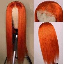Perruque Lace Closure Wig Remy brésilienne – Miss Rola, cheveux naturels, blond Orange, BUG, pre-plucked, 4*4, densité 180%, 30 # 99J