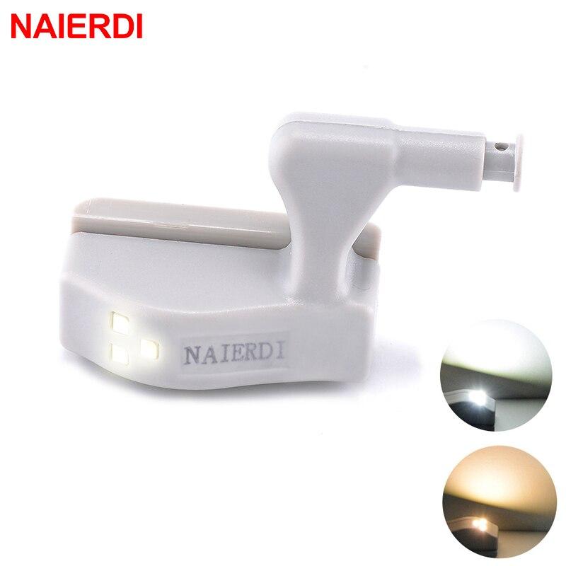 NAIERDI Under Cabinet Hinge LED Sensor Light Universal Kitchen Bedroom Living Room Cupboard Closet Wardrobe Inner Lighting