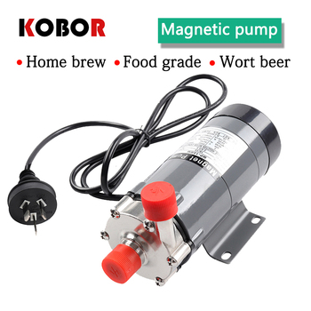 Stainless Steel Wort beer cycle brewing Pump Food Grade Brewing Magnetic Water Pump Home brew Temperature 140C 1/2 BSP/NPT magnetic pumpmp15rm high temperature food grade home beer brewing stainless steel no leakage in circulation magnetic drive pump