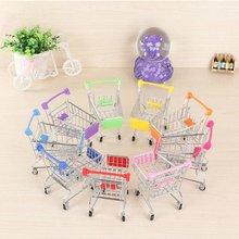 Kids Toys Pretend-Play-Toy Hand-Trolleys Simulation-Supermarket Mini Children for Room-Decor