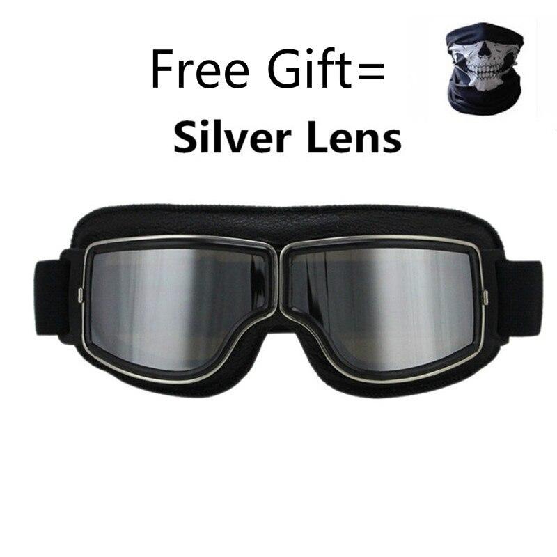 Universal Vintage Motorcycle Goggles Motorbike Scooter Biker Glasses Helmet Goggles Foldable