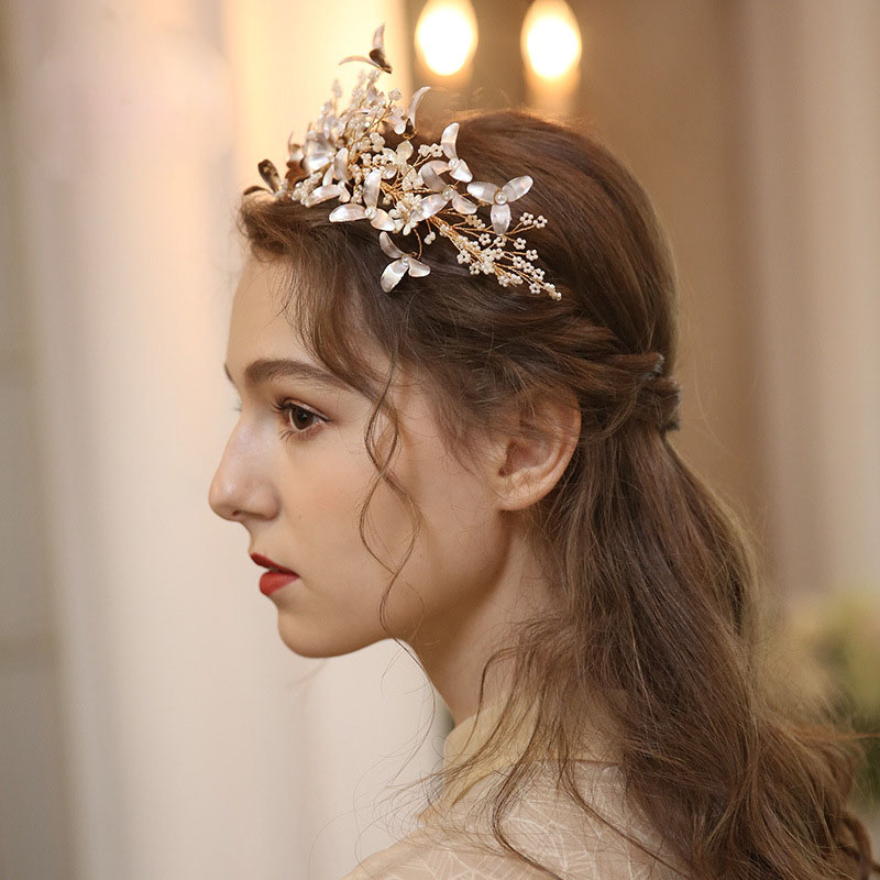 bridal jewelry original hand-made flower heavy crown photo studio modeling accessories factory direct sale wedding accessories