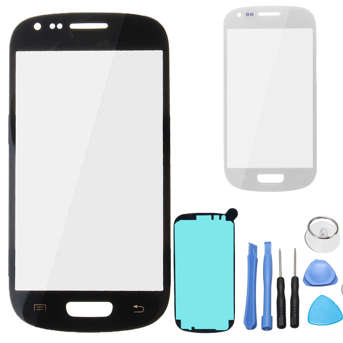 LEORY Black/White Mobile Phone Touch Screen w/ Disassemble Tool Sticker Replacement Touch Panels For Samsung Galaxy S3 mini i819