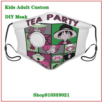 Hot sale Tea Party washable reusable face mask adult with an exhaust valve replaceable filter mascara protectora facial lavable