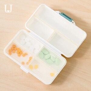 Image 4 - Youpin Jordan & Judy PP Portable petite boîte à pilules scellé Kit demballage Mini boîte à pilules 7 compartiments transportant la boîte à médicaments