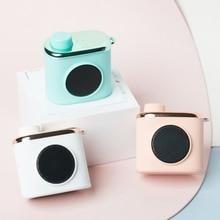 Altavoz inalámbrico Vintage con forma de cámara, Mini altavoz estéreo portátil Bluetooth 4,0, altavoz original para exteriores